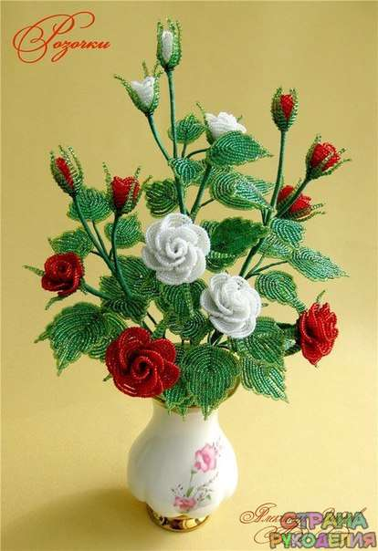 Роз из бисера схема фото
