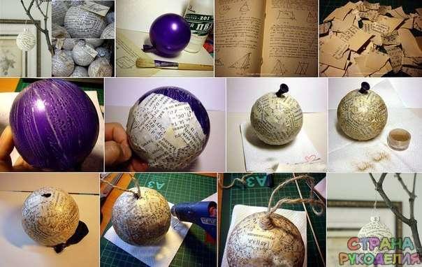 Новогодние шары своими руками и как их сделать