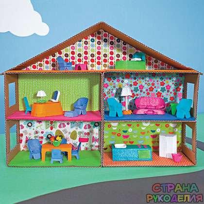 Домик для игрушки сделаны своими руками