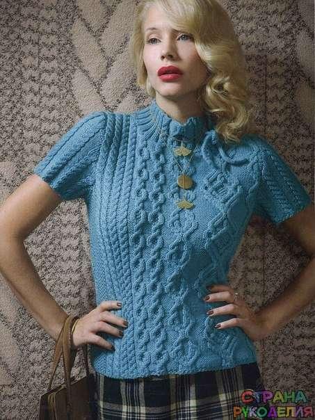 вязание спицами узоры для женского пуловера