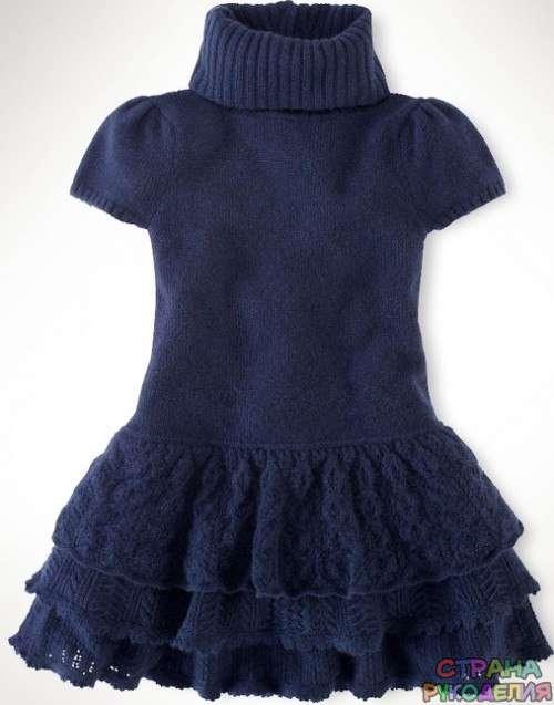 Вязаные платья для девочек. - Платье.Сарафан - Вязание для ...
