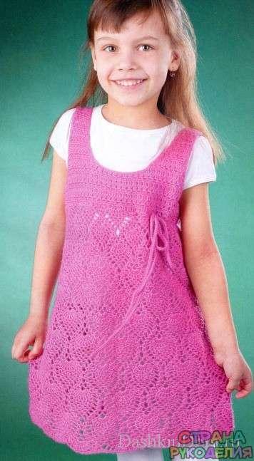 54df2854a5f туника на девочку 5-6 лет - Платье.Сарафан - Вязание для детей - Рукоделие