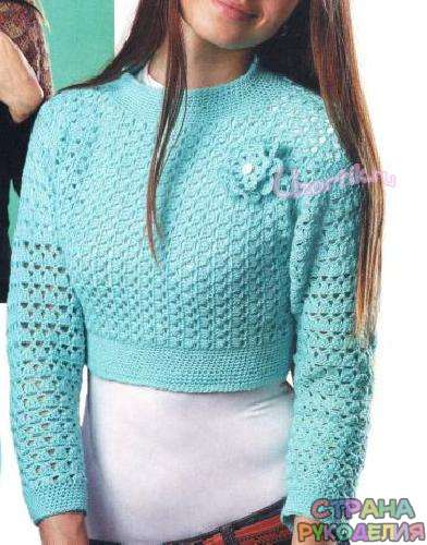вязания пуловер жакет