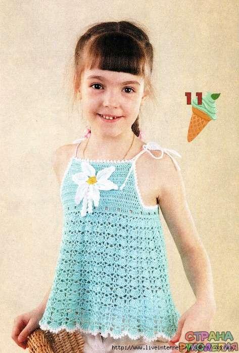 Топы крючком для девочек со схемами фото 551