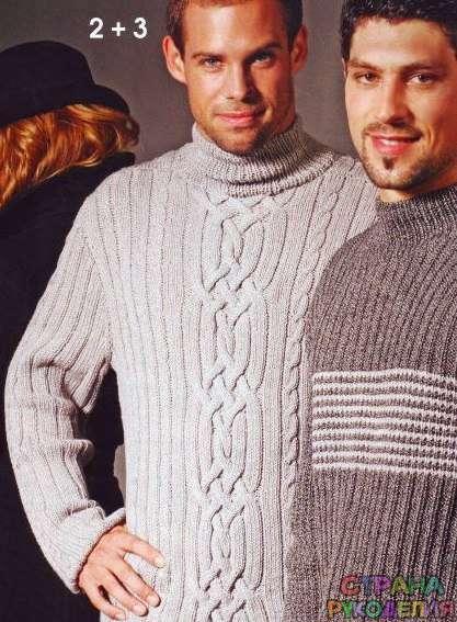 Вязание классического свитера для мужчины - Свитера ...